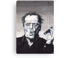 Jack Nicholson Smoke Ring Canvas Print