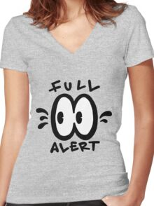 Full Alert Women's Fitted V-Neck T-Shirt