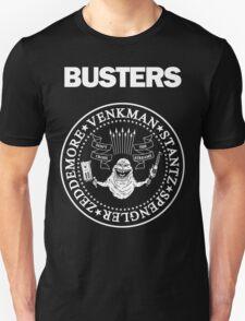 GHOSTBUSTERS / RAMONES Black Tee T-Shirt