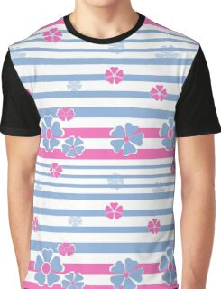 Seamless floral pattern with flowers print background Graphic T-Shirt