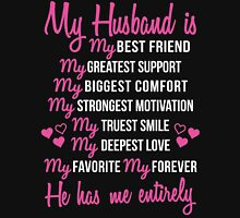 My Husband is My Best Friend Wedding Anniversary Gift For Wife Unisex T-Shirt