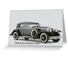 Rolls-Royce Phantom ll 1932 Greeting Card
