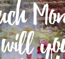 Monet Valentine Sticker