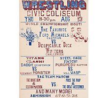 Pro Wrestling Poster2 Photographic Print