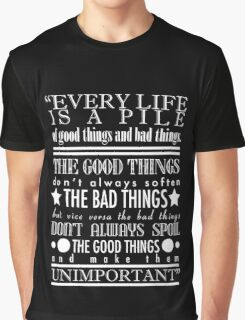 Doctor Who Quote Poster Graphic T-Shirt