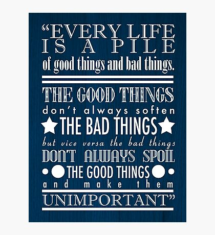Doctor Who Quote Poster Photographic Print