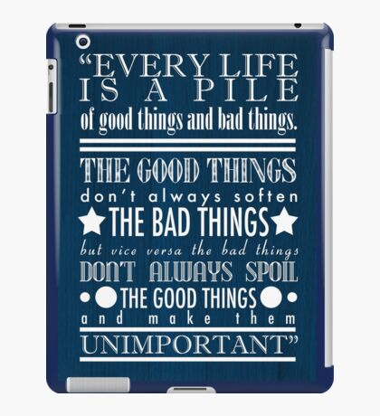 Doctor Who Quote Poster iPad Case/Skin
