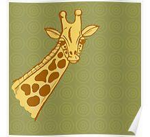 hand drawn giraffe Poster