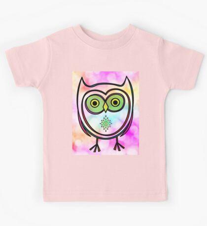 Owl on Bokeh  Kids Tee