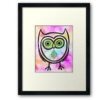 Owl on Bokeh  Framed Print