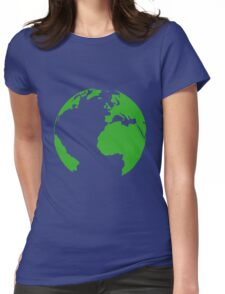 Planet earth map Womens Fitted T-Shirt