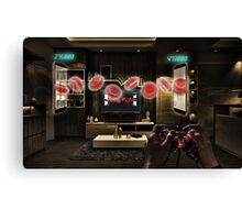 Blood Cell Pong Canvas Print