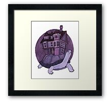 Purple Turtle House Framed Print