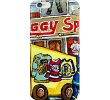 DISCOVER VERDUN BIGGY'S SPORTS STORE WELLINGTON STREET iPhone Case/Skin