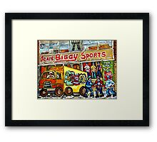 DISCOVER VERDUN BIGGY'S SPORTS STORE WELLINGTON STREET Framed Print