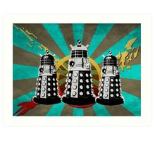 Doctor Who - Retro Daleks Art Print