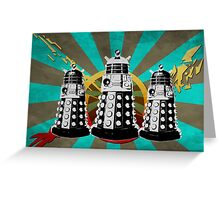 Doctor Who - Retro Daleks Greeting Card