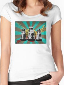 Doctor Who - Retro Daleks Women's Fitted Scoop T-Shirt