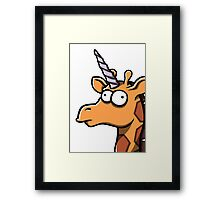 Fred - The Last Girafficorn Framed Print