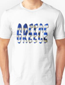 Greece Word With Flag Texture Unisex T-Shirt