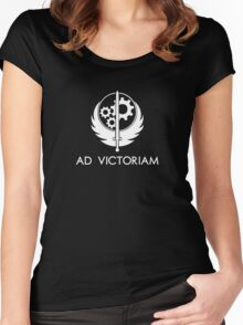 Brotherhood of Steel - Ad Victoriam Women's Fitted Scoop T-Shirt