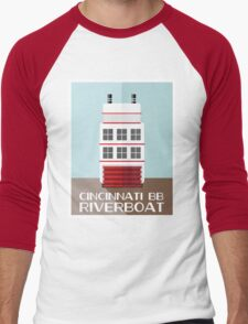 Cincinnati BB Riverboat Men's Baseball ¾ T-Shirt