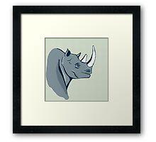 hand drawn rhinoceros Framed Print