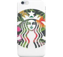 Starbucks funky flowers iPhone Case/Skin