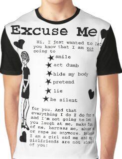 EXCUSE ME RIOT GRRRL Graphic T-Shirt