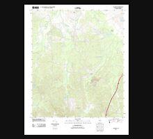 USGS TOPO Map Alabama AL Calhoun 20110927 TM Unisex T-Shirt
