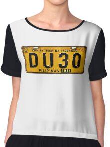 DUTERTE plate number (rustic) Chiffon Top