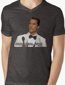 ALRIGHT, ALRIGHT, ALRIGHT Mens V-Neck T-Shirt