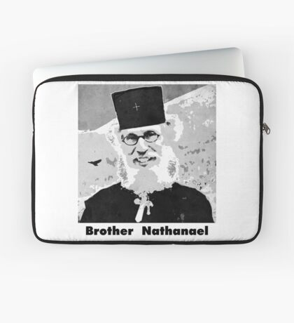 Brother Nathanael with Title Laptop Sleeve
