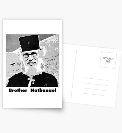 Brother Nathanael with Title Postcards