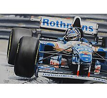 Damon Hill, Williams FW17 Photographic Print