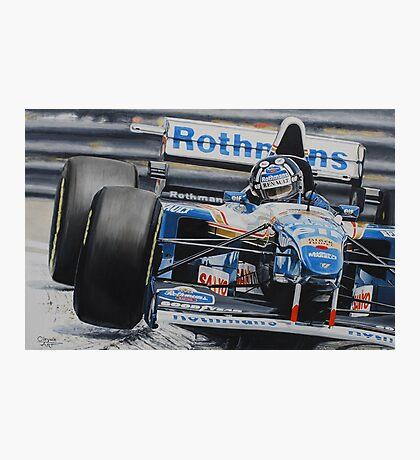 Damon Hill, Williams FW17 Photographic Print