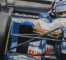 Damon Hill, Williams FW17 Sticker