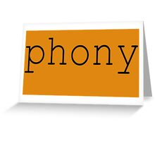 Phony Greeting Card
