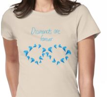 Diamonds are forever, with text Womens Fitted T-Shirt