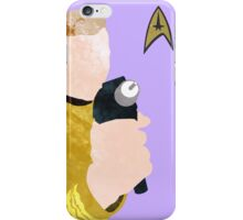Captain Kirk Poster iPhone Case/Skin