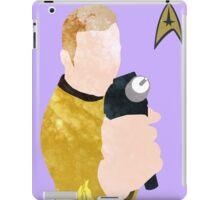 Captain Kirk Poster iPad Case/Skin