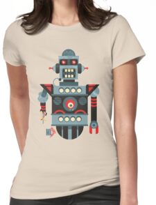 Robot 7 Womens Fitted T-Shirt
