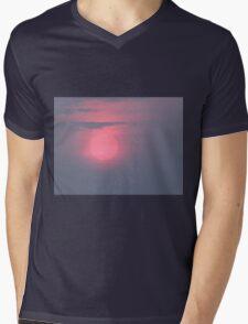 Pink Glow Mens V-Neck T-Shirt