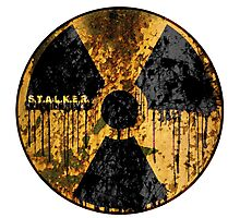 Stalker Radiation Symbol Photographic Print
