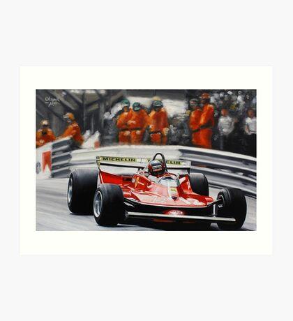 Gilles Villeneuve, Ferrari 312T4 Art Print