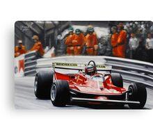 Gilles Villeneuve, Ferrari 312T4 Canvas Print