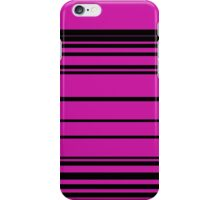 Horizontal Solid Lines iPhone Case/Skin