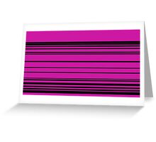 Horizontal Solid Lines Greeting Card