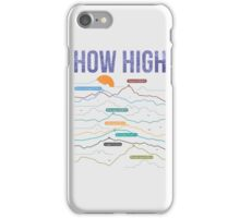 how high iPhone Case/Skin