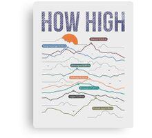 how high Canvas Print